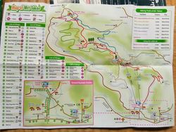 Map of tTakaosan hiking trails