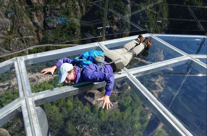 Glass bridge china